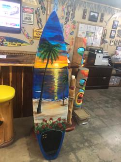 Custom surfboard painting