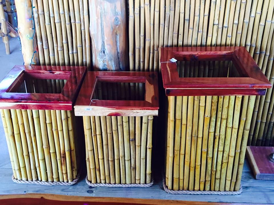 Bamboo Trash cans