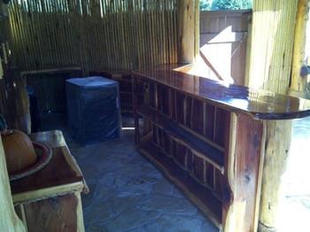 Red Cedar siding outdoor kitchen