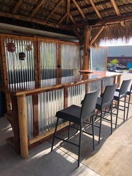 Tin and cedar bar top