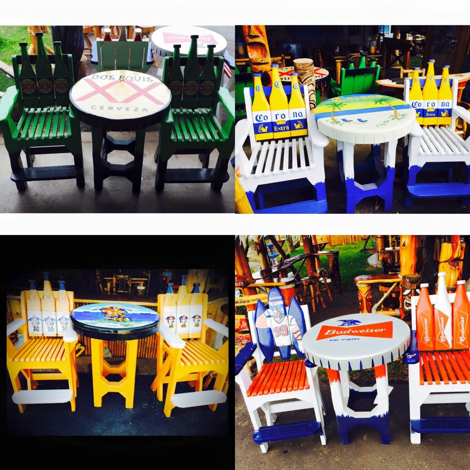 Custon Built and Painted Table and Chair