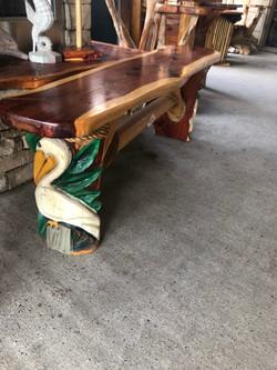 cedar pelican bench