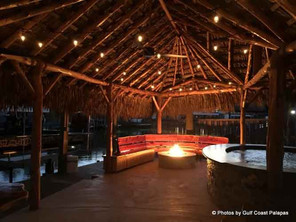 Outdoor Fireplace and Palapa