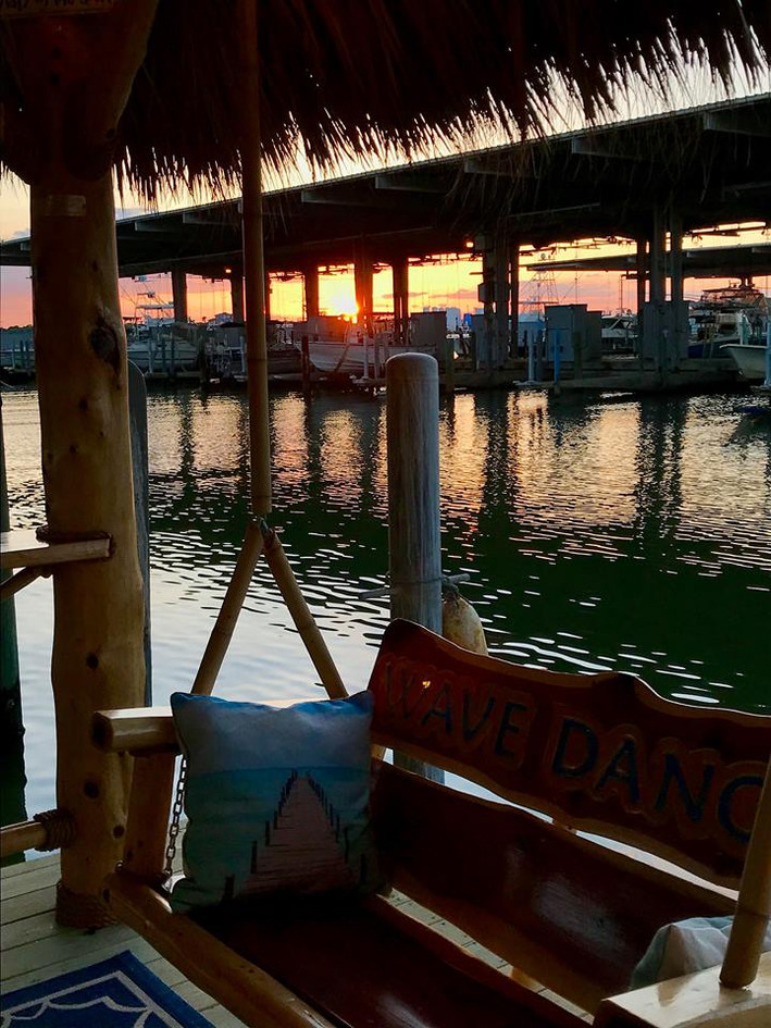 Mr. Greg Ball's gorgeous view from his custom palapa