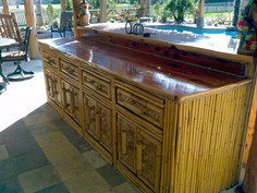 cedar bar top with bamboo siding