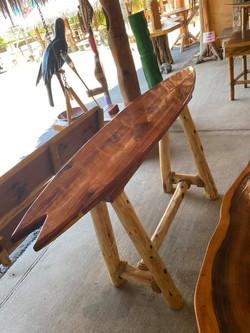 bar height surfboard table