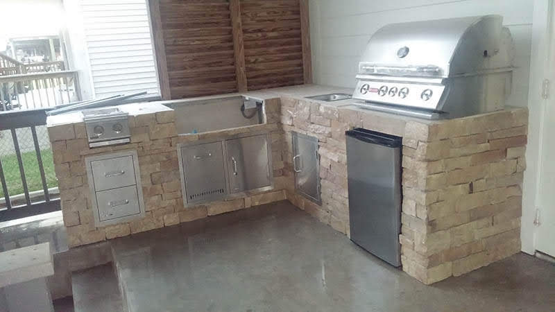 Limestone with stainless steel