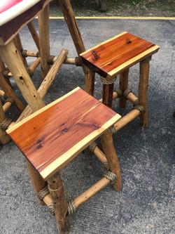 Cedar Rectangle stools