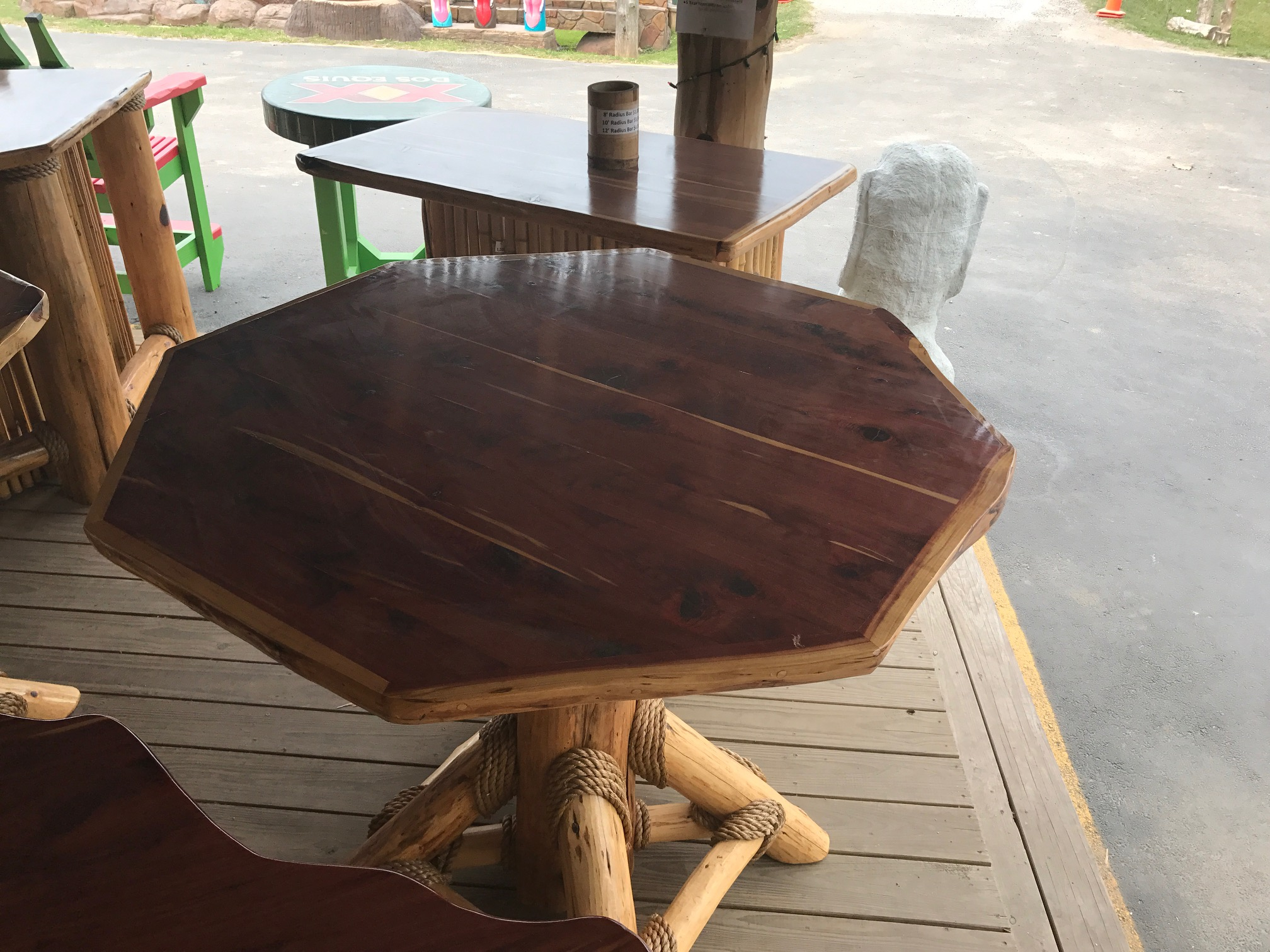 Octagon Cedar Table