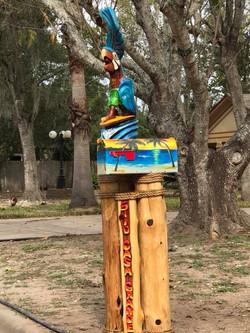 Surfing Parrot Mailbox