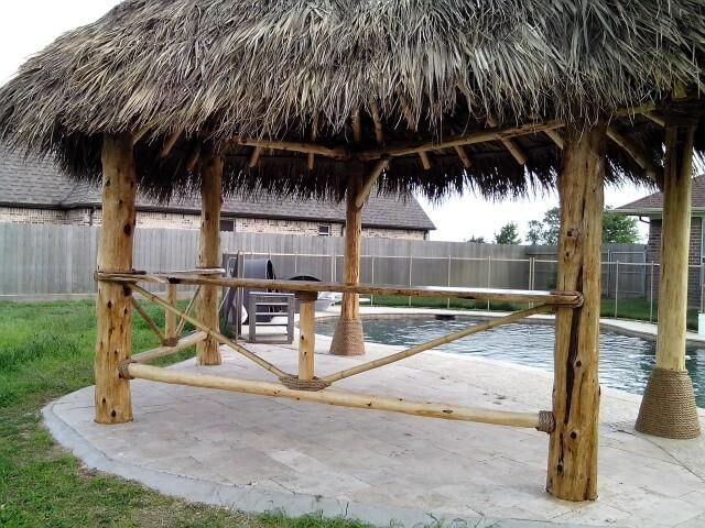 Palapa with bar rails
