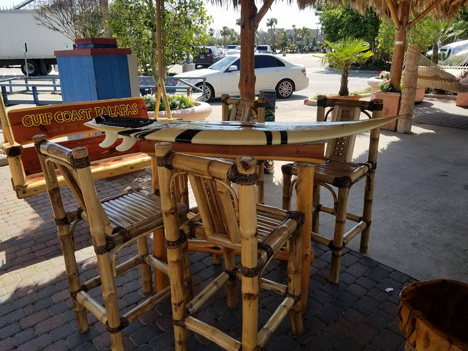Surf Table w/Bamboo Chairs
