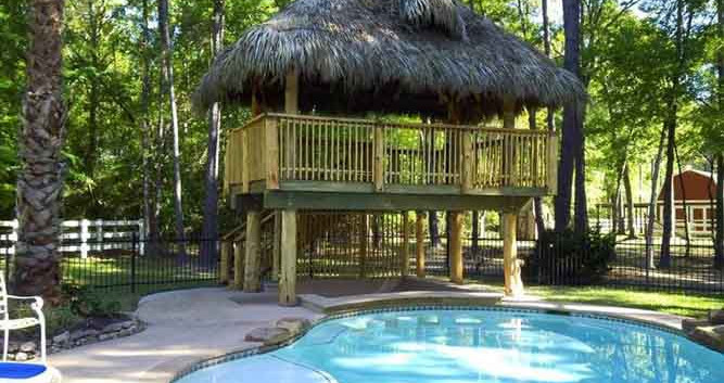 Two story natural thatch