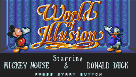 LEVEL SELECT #1:  World of Illusion (starring Mickey Mouse & Donald Duck)