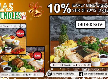 10% Early Bird Discount on Xmas Bundles