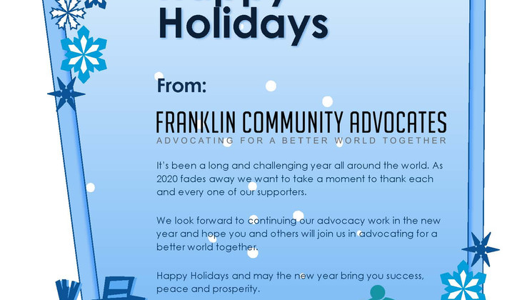 Happy Holidays from FCA
