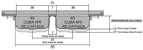 Frente Cubas Rejuntadas Nº0