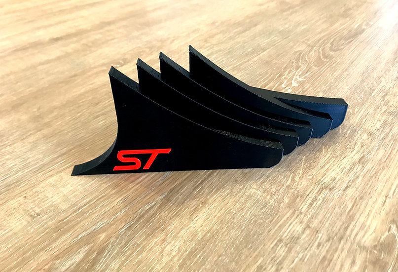 MK7 FIESTA ST POINTED DIFFUSER FINS WITH COLORED ST INSERT