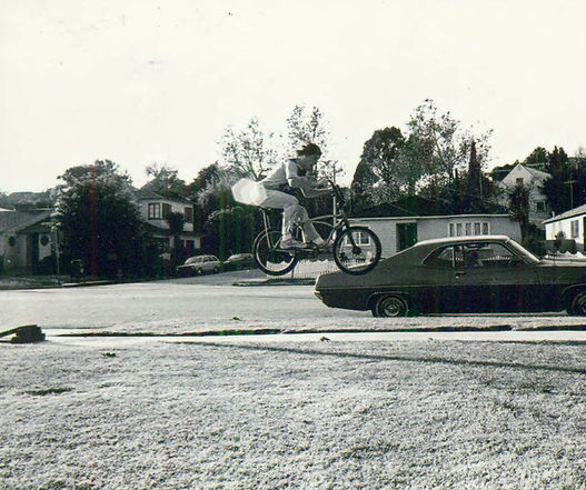Jumping on Castle Heights Avenue, 1970's BMX riding
