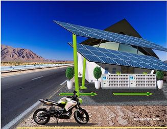 Desret Highway Battery-Swap Station