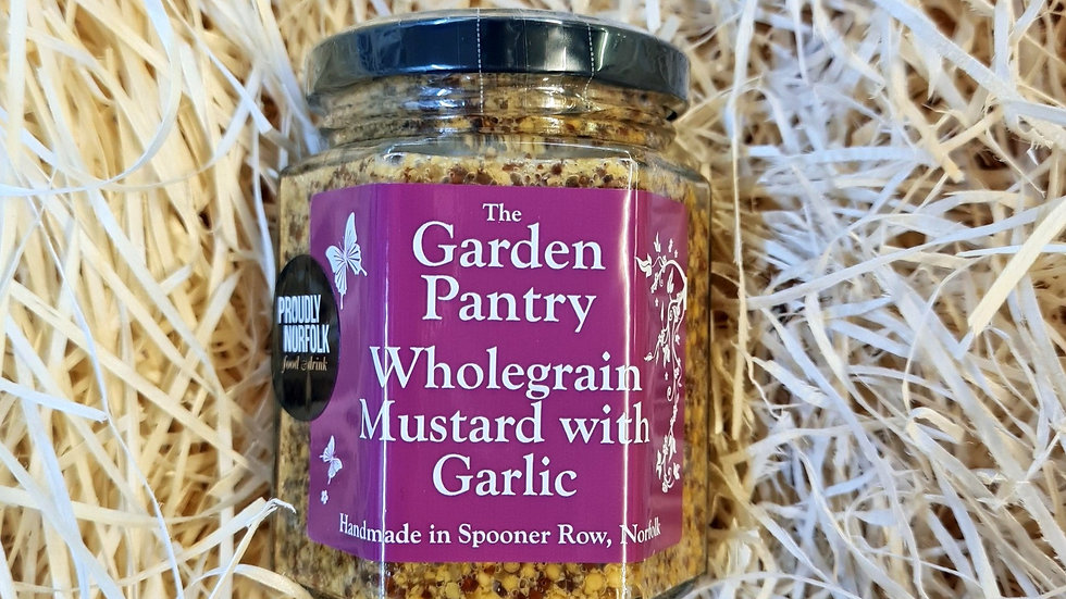 The Garden Pantry Wholegrain Mustard with Garlic