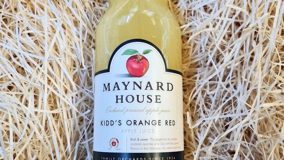 Maynard House Kidd's Orange Red apple juice