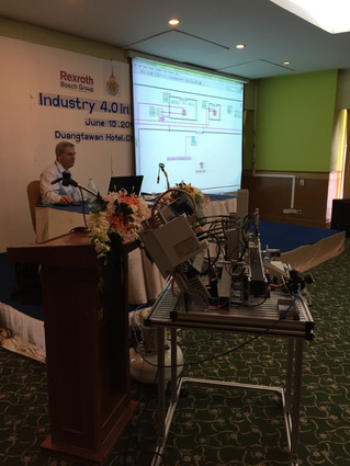 Industry 4.0 Seminar in Chaing Mai with Bosch Rexroth Germany.
