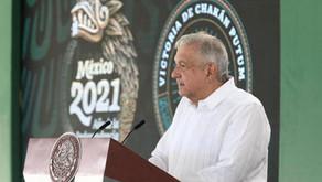 """Mañanera de AMLO : Vacunas decomisadas en Campeche son """"hechizas"""" o de contrabando, no del gobierno"""