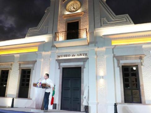 INAUGURA CARLOS MENDOZA MUSEO DE ARTES DE BCS; SE INVIRTIERON MÁS DE 75 MDP