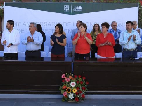 Conmemora Gobierno Municipal el 198º Aniversario de Consumación de la Independencia Nacional
