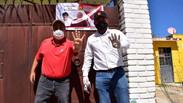 Vecinos de la Colonia Santa Anita, refrendan su apoyo a Christian Agundez, el candidato del pueblo.