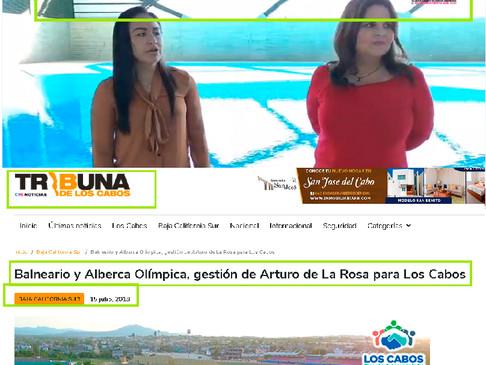 Mintió Armida Castro, Alberca olímpica fue construida en la Administración de Arturo De la Rosa