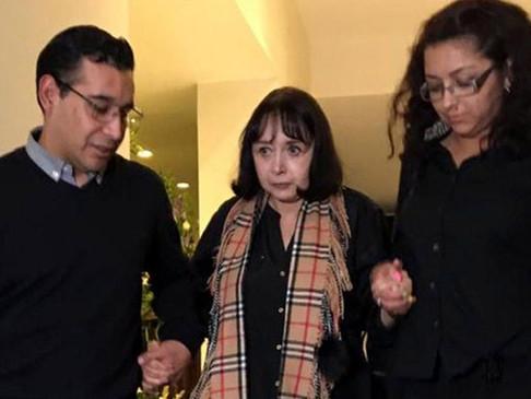 La Chilindrina da el último adiós a su esposo Gabriel Fernández