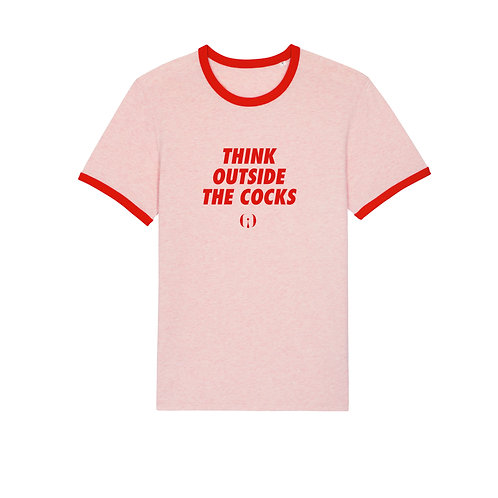 «Think outside the cocks » T‑shirtOlympe de G.