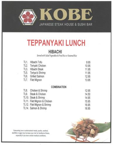 Teppanyaki Lunch