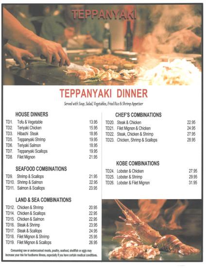 Teppanyaki Dinner