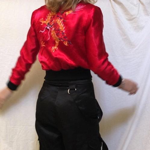 Silk dragon bomber jacket