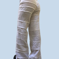 White pimlico trousers