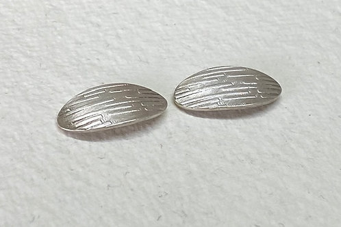 Oval Linear Textured studs