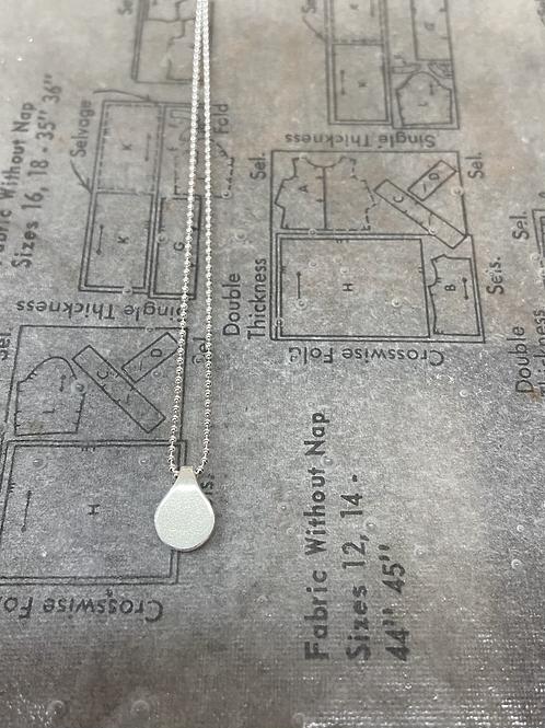 Tiny price tag fold pendant (ball chain)