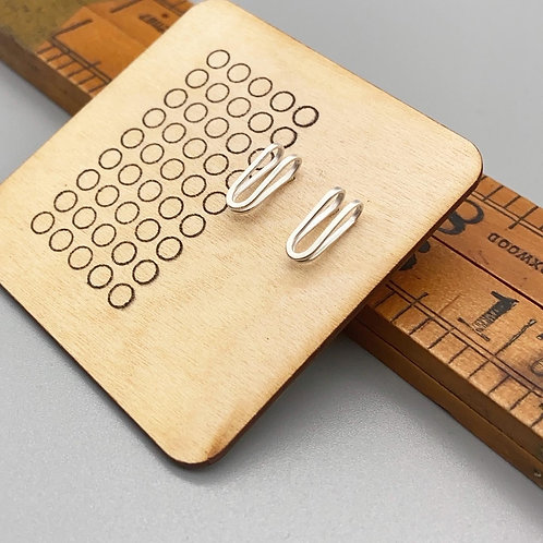 Line Folded Clip Studs