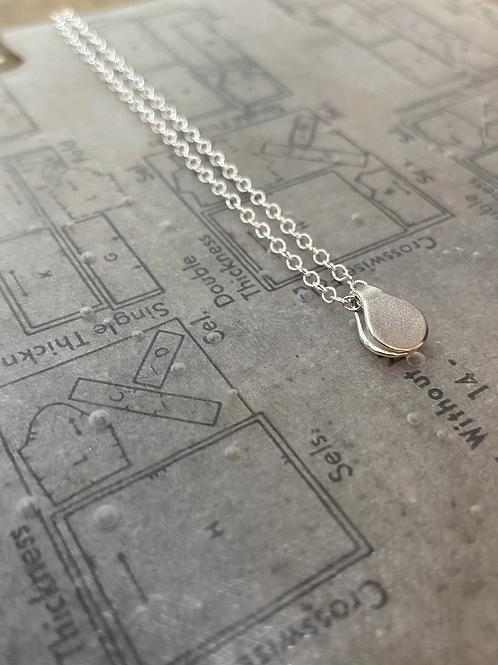 Tiny price tag fold pendant (trace chain)