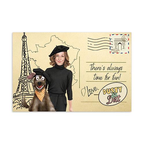 """""""Time for Fun""""  Postcard"""