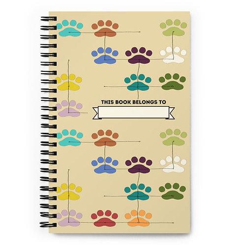 Paw Print Spiral notebook