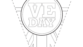 Colouring Pages: VE Day bunting