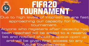 Update on entries for FIFA20 tournament