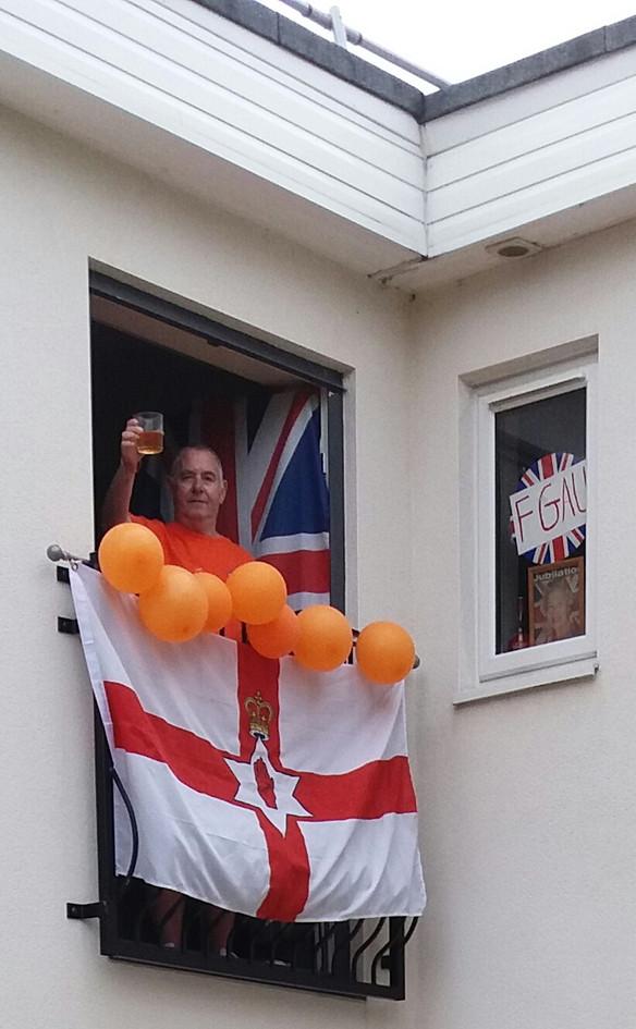 Celebrating in Pontefract West Yorkshire