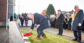Order falls silent on Remembrance Day