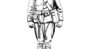 Colouring sheet - WW1 soldier