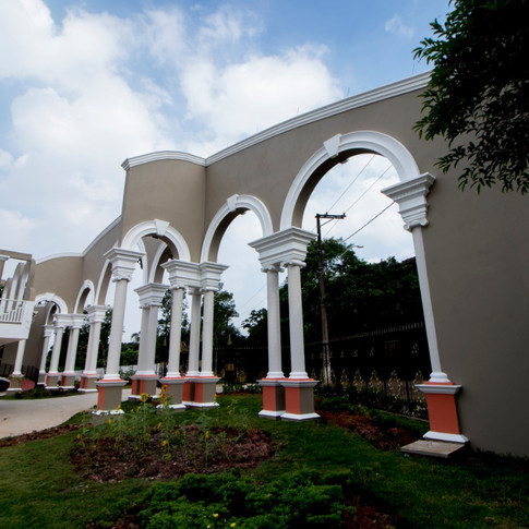 Vista do portal pela parte interna ao parque